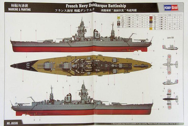 Entfernungsmesser Schiff : French navy dunkerque battleship hobbyboss 1 350