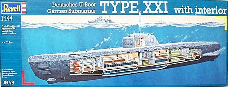 Deutsches u boot typ xxi with interior revell 1 144 for Deutsches u boot typ xxi mit interieur
