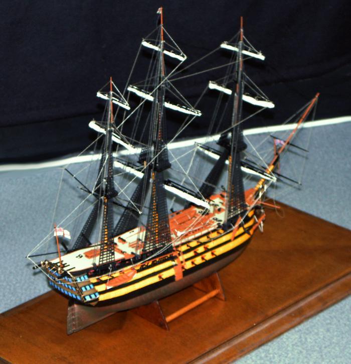 Die HMS Victory war das Flaggschiff von Lord Nelson in der Schlacht von