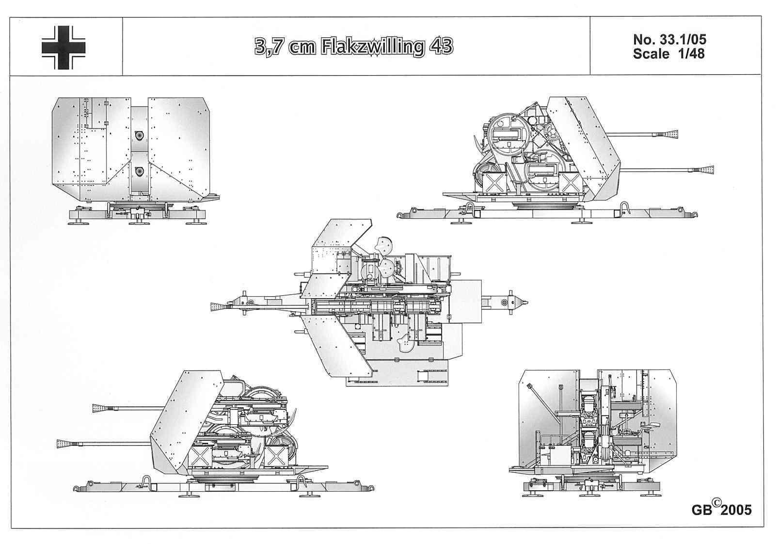 3 7 cm flak 43 zwilling. Black Bedroom Furniture Sets. Home Design Ideas